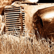 Royalty-Free Stock Photo: Old Red Farm Truck