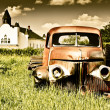 Old Red Farm Truck — Stock Photo #5003173
