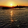 Sunset on the San Diego Harbor — Stockfoto