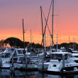 Sunset on the San Diego Harbor - Stock Photo