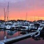 Sunset on the San Diego Harbor — Stock Photo #5003375