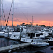 Sunset on the San Diego Harbor — Foto de Stock