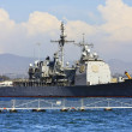 US Navy Battle Ship — Stock Photo