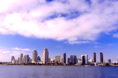 San Diego City Skyline along Harbor — Stock Photo