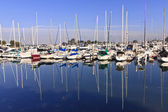 Yachts and Boats at the Harbor — Stock Photo