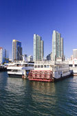 San Diego Bay Boats Docked — Stock Photo