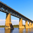Stock Photo: Iron Train Bridge