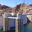 Royalty-Free Stock Photo: Hoover Dam and Water Intake Towers