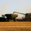 Stock Photo: Fall Harvest on the Prairies