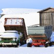 Royalty-Free Stock Photo: Old Farm Truck in Winter