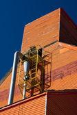 Orange Grain Elevator — Stock Photo