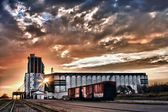 Grain Terminal at Sunrise — Stock Photo