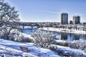 Winter in de stad saskatoon, canada — Stockfoto