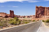 Arches National Park Road — Stock Photo