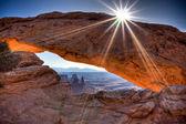 Sunrise at Mesa Arch — Stock Photo