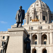 Knute Nelson Statue in front of the Minnesota State Capitol Buil — Stock Photo
