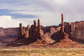 The Totem Pole at Monument Valley — Stock Photo