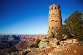 A torre de vigia no grand canyon — Fotografia Stock