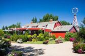 Red Barn near Saskatoon, Saskatchewan — Stock Photo