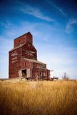 Prairie Grain Elevator on the Canadian landscape — Stock Photo