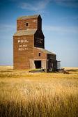 Abandoned Prairie Grain Elevator — Stock Photo