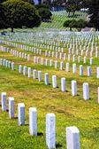 Rzędy nagrobków żołnierzy poległych — Zdjęcie stockowe