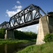 Battle River Train Bridge — Stock Photo