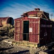 Converted Caboose — Stock Photo