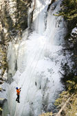 Going up the Frozen Cliff — 图库照片