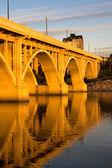 Západ slunce na broadwayi most — Stock fotografie
