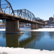Old Bridge over the South Saskatchewan River — Stock Photo