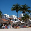 Stock Photo: Beachfront Resorts at Playdel Carmen, Mexico