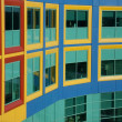 Windows resemble colorful Building Blocks - Stock Photo