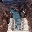 Hoover Dam and Hoover Dam Bypass Bridge — Stock Photo #5164581
