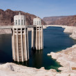 Stock Photo: Hoover Dam Intake Tower on ArizonSide of Border