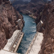 Stock Photo: Hoover Dam and Hoover Dam Bypass Bridge