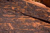 Ancient Petroglyphs — Stock Photo