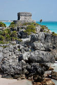 Templo de las Pinturas (Temple at Tulum) — Foto Stock
