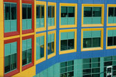 Windows resemble colorful Building Blocks — Stock Photo