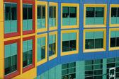 Windows resemble colorful Building Blocks — Stock Photo