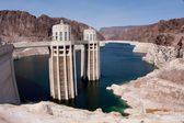 Hoover Dam Intake Tower on the Arizona Side of the Border — Stock Photo