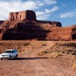 Vehicle at the Bottom of Dead Horse Point — Stock Photo