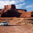 Royalty-Free Stock Photo: Vehicle at the Bottom of Dead Horse Point