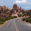 Highway in Arches National Park — Stock Photo #5170743