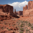 Park avenue a arches national park — Foto Stock #5170774