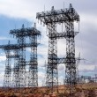 Electric Transmission Towers — Stock Photo
