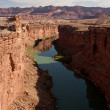 Colorado River at the Bottom of the Grand Canyon — Stock Photo #5175892