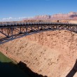 Navajo Bridge over the Colorado River and the Grand Canyon -  