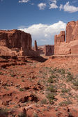 Park Avenue at Arches National Park — Stock Photo
