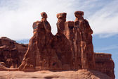 Three Gossips formation in Arches National Park — Stock Photo